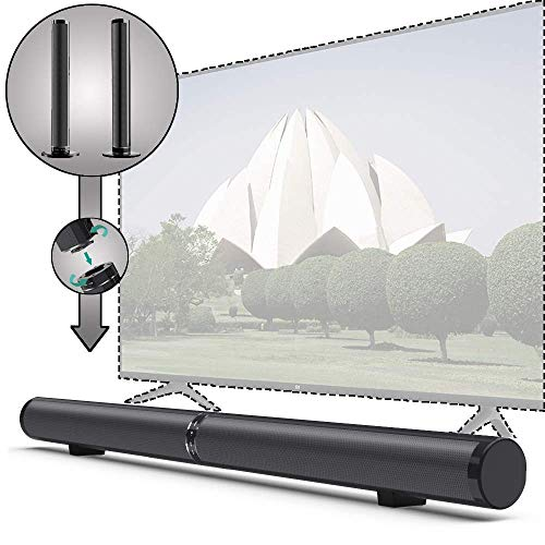 Soundbar Stereo 2.1 Kanal Abnehmbare HDMI ARC Bluetooth mit Integriertem Subwoofer mit 6 Lautsprechern Wired/Wireless 50W Heimkino für TV,PC,Tablet,Smartphone,mit optischem Kabel und Fernbedienung -