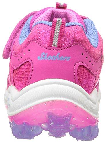 Skechers Kids Air Bungee Strap Sneaker (Little Kid/Big Kid/Toddler) Periwinkle Neon Pink