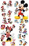Unbekannt 30 TLG. Set _ Wandtattoo / Sticker + Fensterbilder -  Mickey & Minnie Mouse  - Wandsticker + Fenstersticker - Aufkleber für Kinderzimmer - Maus Playhouse / ..