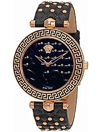 b82efcafa Versace Reloj Analógico para Mujer de Cuarzo con Correa en Cuero VK7530017