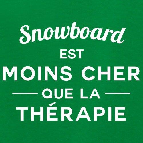 Snowboard est moins cher que la thérapie - Femme T-Shirt - 14 couleur Vert