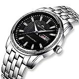 Herren Uhren Männer Wasserdicht Luxus Design Mode Silber Edelstahl Armbanduhr Mann Business Sport Datum Kalender Analog Quarz Uhr