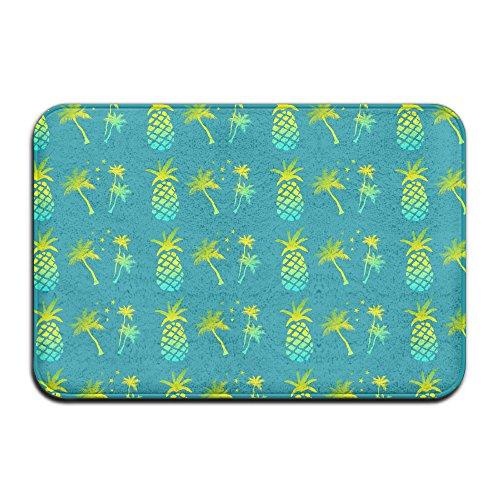 Grün Palme Ananas rutschfest Teppich Matte Teppich für Innen-/Front Tür/Badezimmer/Küche (Palm-baum-design-teppich)