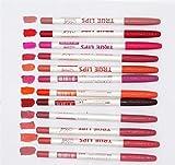 New 12 PCS/Lot True Lips 12 Colors Lip Liner Marker Waterproof Makeup Professional Lipstick Pen Pencil Cosmetic Tools Make Up 12 pcs