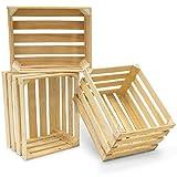 Apfelkiste aus Holz 3er Set zur Dekoration Regalbau und...