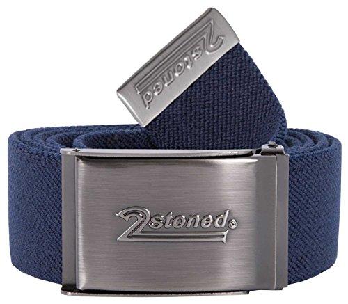 2Stoned Stretch-Gürtel elastisch Klappschnalle Speed, Navy, One Size, 120cm - 140cm dehnbar, für Damen und Herren