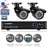 FLOUREON® High Quality Home Shop Office CCTV DVR Security Systems -- 1X 4CH Full 960H HDMI CCTV DVR   2 X 800TVL IP66 Waterproof IR-Cut Outdoor
