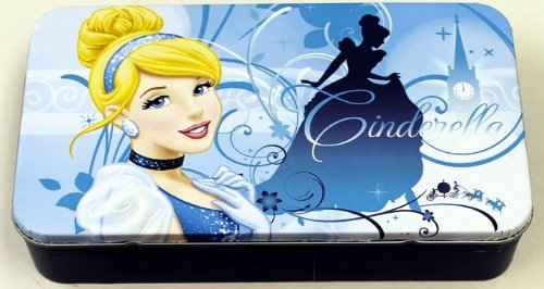 Disney Media Storage (Storage Box - Disney - Princess - Cinderella Blue Pencil Case Box New 876207-1 by The Tin Box Company)