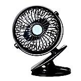 StillCool Mini Ventilateur à Clipper, Ventilateur USB de Bureau Rotation 4 Modes Rotation à 720° Puissant et Silencieux Pour Poussette, Voiture, Camping, etc