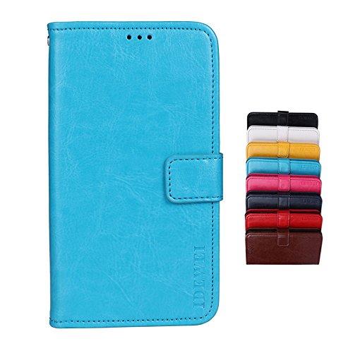 Brand Set® TP-Link Neffos X9 Hülle Brieftasche Handyhülle Kunstleder Flip Case mit sicherer Magnetverschlussverriegelung & Stent-Funktion,geeignet für TP-Link Neffos X9 (Blau)