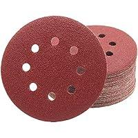 50De Pieza profesional–Disco de lija (Diámetro 115mm grano 180para lijadoras excéntricas, 8agujeros)