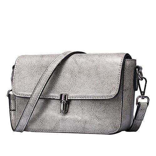 Kaxima Rindsleder kleine Tasche einfach sperren kleine Seite Tasche Leder Flut Schulter (Sperre Leder-gepäck)
