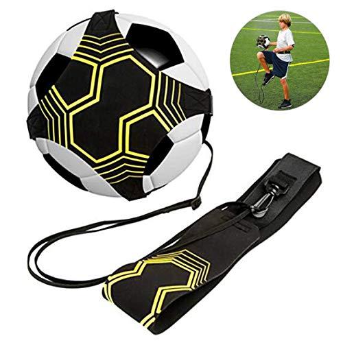 DTNO.I Fußball Kick Trainer, Soccer Trainer Fußball trainingshilfe Hände frei Solo Training Fußball-Trainingsausrüstung für Erwachsene, Kinder mit elastischem Gurtseil für 3 4 5 Fußball