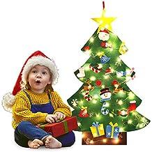 Bageek Árbol de Navidad DIY, niño Árbol de Navidad con Luces LED Independientes árbol de