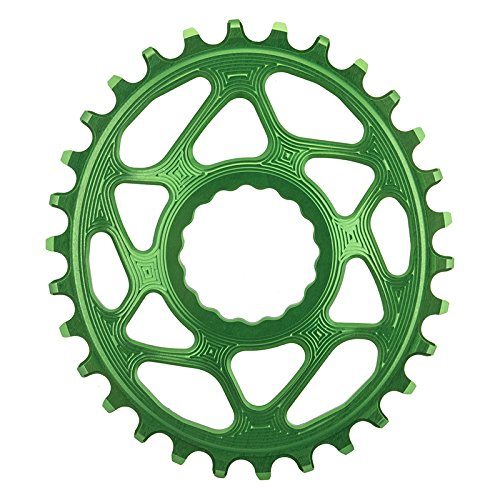 ABSOLUTE BLACK Race Face Oval Cinch Direct Mount Traction Kettenblatt, grün, 30t