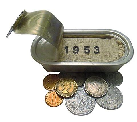 Symbolisch wertvolles Geschenk zum 64. Geburtstag mit 10 Münzen von 1953 – Eine alte neue Idee