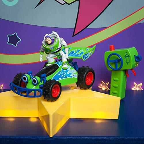 DICKIE-Spielzeug 201134004 RC Toy Story Buggy Toys 201134004-RC-Fahrzeug Buzz-Figur, ferngesteuertes Auto mit Turbo-Funktion, 1:24, grün/weiß/blau, 20 cm (Toy Story-ferngesteuertes Auto)