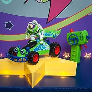 Dickie 201134004 RC Toy Story Buggy Toys 201134004-RC - Coche teledirigido con función Turbo (Escala 1:24, 20 cm), Color Verde, Blanco y Azul