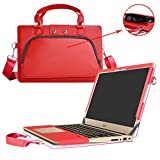Acer Swift 3 Housse,(2 en 1) spécialement conçu Etui de protection en cuir PU + sac portable Sacoche pour 14' Acer Swift 3 SF314-51 Series ordinateur portable(NON compatible avec Acer Swift 3 SF314-52 Serie),Rouge