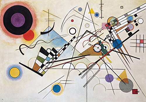 Get Custom Art Wassily Kandinsky - Komposition VIII 12x18 inch Canvas Print Rolled in a Tube (Print Flache Art Canvas)