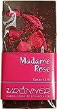 Krönner Madame Rose Zartbitter Schokolade mit echten kandierten Rosenblütenblättern, 110 g Tafel, Kakao 66%