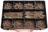 TORX Schraubensortiment, 1225 Stck Spanplattenschrauben im Koffer, 3,0x12-5,0x120