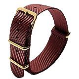 NATO Style étanche Bracelet de Montre en Nylon balistique Bandes de Montre Bracelet...