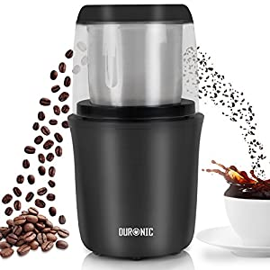 Duronic CG250 Premium 250W Electric Coffee Grinder Motor Coffee Bean Spice Nut Stainless Steel Blade Mill by Duronic