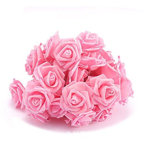 10 LED Batteriebetriebene Rosa Rose Blume 6,5 Feet Fairy String Licht Für Valentine Dekoration Hochzeit Schlafzimmer Garten Weihnachts-Dekor (10LED 6.5Feet, Pink),20