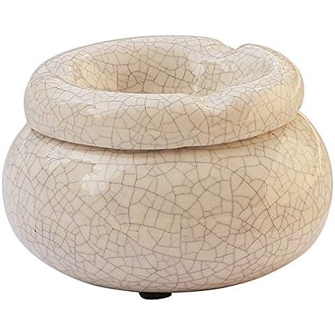 """Moroccan rotondo Crackle portacenere posacenere in ceramica """"4con 3scomparti per sigarette"""