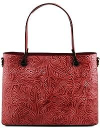 Tuscany Leather Atena Sac shopping en cuir Ruga avec motif floral