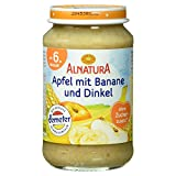 Alnatura Demeter Bio Apfel-Banane mit Dinkel, 6er Pack (6 x 190 g)