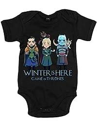 Body bebé Juego de Tronos Jon Snow Caminante Blanco Khaleesi y dragones ilustración