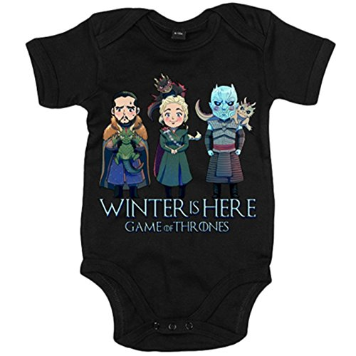 Body bebé Juego de Tronos Jon Snow Caminante Blanco Khaleesi y dragon