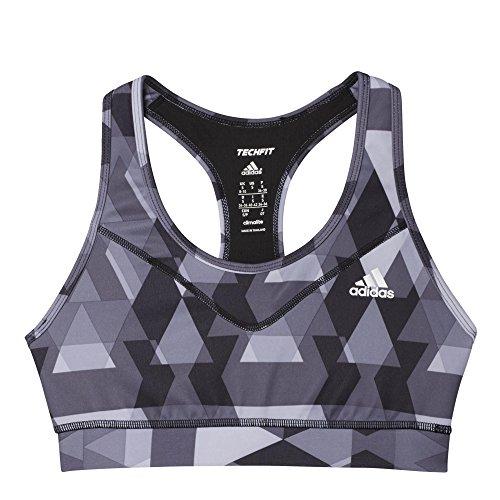 adidas Damen Sport-bh TF BRA GLO TRI Schwarz/Grau, XS