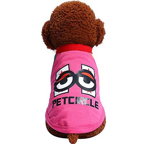 Heiße Kostüm Kleid - Smniao Haustier Hund Kleidung Kleine Hund Große Augen Muster Strand Weste Hemd T-Shirt Welpen Katze Rock Kleid Kostüme(XL, Heißes Rosa)