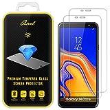 Qseel Bildschirmschutzfolie aus gehärtetem Glas für Samsung (Galaxy J4 Core), transparent, Kratzfest, Anti-Fingerabdruck, blasenfrei, lebenslange Herstellergarantie