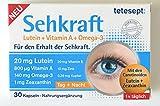 Neu: tetesept Sehkraft, mit Lutein, Vitamin A und Omega 3, für den Erhalt der Sehkraft