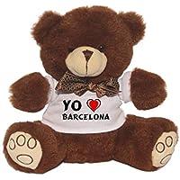 Oso de peluche con Amo Barcelona en la camiseta (ciudad / asentamiento)