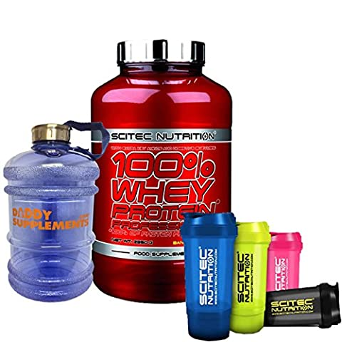 Scitec Nutrition 100% Whey Protein Professional 2350g Free Compartment Shaker