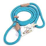 Grand Line Reflektierende Kletterseil Slip Lead Haustiere Leine für Kleine, Mittlere, Große und Extra Schwere Hunde und Katzen - 1,5m Blau