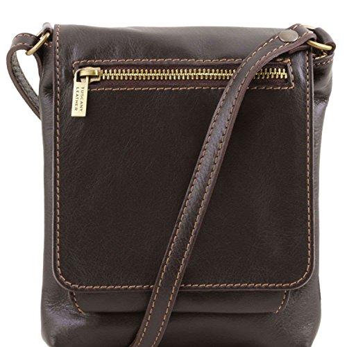 Tuscany Leather - Sasha - Sac mixte en cuir souple - Marron foncé