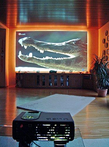 Neutral-matt (PROJEKTIONSLEINWAND, selbstklebende Projektionsfolie von der Rolle, neutral matt weiß, Breite 126 cm, Typ ST-LAN-F)