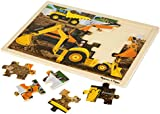 Melissa & Doug Diggers at Work Wooden Jigsaw Puzzle With Storage Tray (24 pcs)