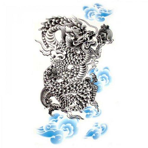 SPESTYLE wasserdicht ungiftig temporäre Tätowierung stickersFake wasserdichte temporäre Tattoos mächtigen Drachen sexy