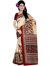 Binny Creation Women's Poly Cotton Saree With Blouse Piece (Bcs-38, Pink, Free Size)