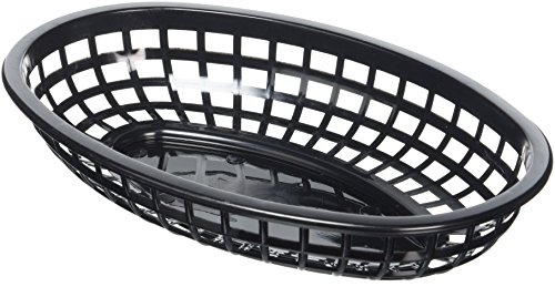 Cesta ovalada TableCraft color negro comida