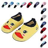 Lauwodun Baby Boys Girls Water Shoes Barefoot Aqua Sock Shoes for Beach Pool Surfing Yoga Swimming Walking-Yellow Duck2223