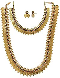 Manav Company 1 Gram Gold Plated Non-Precious Metal Chain Necklace For Women