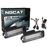NGCAT lampadine a 18 LED 3528 SMD per targa, adatte a sistemi CanBus, confezione da 2 pezzi